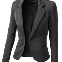9XIS Womens Tailored Boyfriend Blazer:Amazon:Clothing