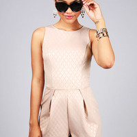 Champagne Sheen Romper | Cute Clothes at Pink Ice