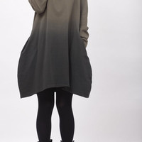hooded heap collar gradient dress Bottoming shirt by MaLieb
