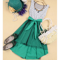 070303 Lace sleeveless vest bottoming dress