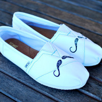 Mini Mustache TOMS by BStreetShoes on Etsy