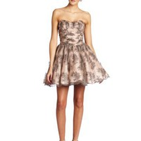 Betsey Johnson Women's Chantilly Lace Strapless Dress
