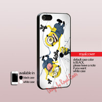 Despicable me Menion - Shoot glass Cracked - Print On Hard Cover - iPhone 4/4S Case and iPhone 5 Case - Samsung Galaxy S3 i9300 / S4 i9500