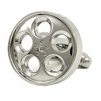 Chrome Wheel Cufflinks | Cufflink Aficionado