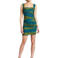 BCBGMAXAZRIA Women's Ivita Short Snake Print Cocktail Dress