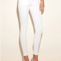 GUESS Brittney Ankle Skinny Jeans with Zip - M, WHITE (29)