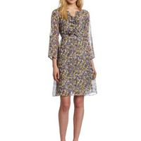 Gabby Skye Women's Shortsleeve Printed Chiffon Dress