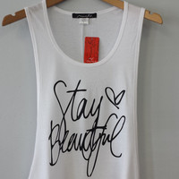 Tank Top- Stay Beautiful