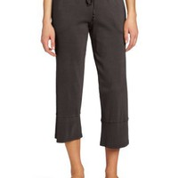 Mod-O-Doc Women's Medium Rib Capri Pant with Back Slit