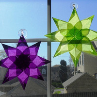 Waldorf Paper Star Suncatcher by storybooksilhouettes on Etsy