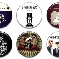 6 NEW Mumford and Sons Pinback Button Badges Shirt Hat Hoodie CD LP Tour Pins