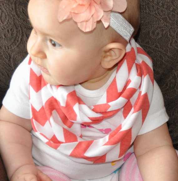 baby coral chevron infinity scarf toddler from chevronscarf on