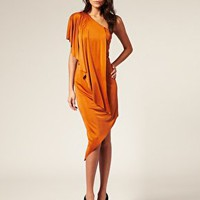 ASOS One Sleeve Asymmetric Slinky Dress