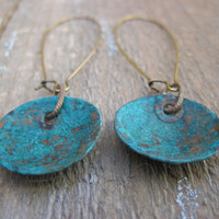 Verdigris Copper Earrings Bohemian Style by CopperTreeArt on Etsy