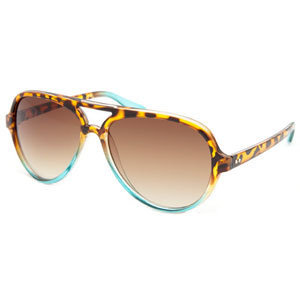 FULL TILT Turquoise Fade Aviator Sunglasses 191846401 | sunglasses | Tillys.com