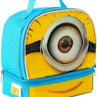 "Despicable Me 2 ""Minion Stuart"" Dual Compartment Children's School Lunchbox"