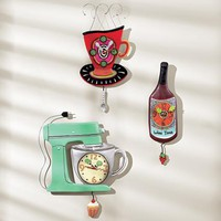 Fanciful Wall Clocks @ Fresh Finds