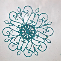 Ornate Turquoise Metal Wall Fixture by AquaXpressions