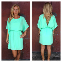 Neon Mint Empress Mini Dress