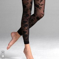 SHEER ROSE ANKLE TIGHT at Express