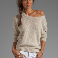 Vince Long-Sleeve Square Sweater in Natural from REVOLVEclothing.com