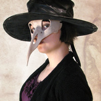 Scary Leather Bird Skull Mask