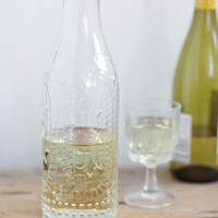 Lela Pressed Glass Carafe