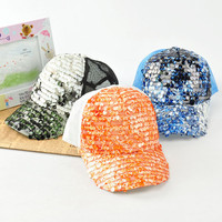 Fashion Shiny Sequin Net Back Newsboy Hat/Ball Cap wholesale in bulk from hats wholesale supplier yiwuproducts.