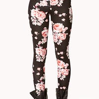 Rosette Pattern Leggings