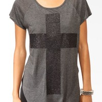 Glittered Cross Raglan Tee | FOREVER 21 - 2031846847