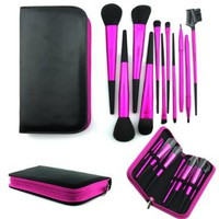 Bao Xin Leather Makeup Cosmetic Brushes Carrying Pack Professional Make Up Cleaning Brush Set (11-Rose):Amazon:Beauty