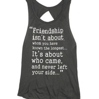 Friendship Quote Tank