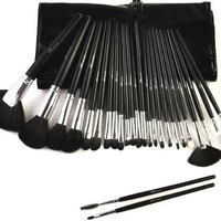 Flawless Look Makeup Brush Set - Premium Professional 24-Piece Collection Plus Case Along With Your Satisfaction Guaranteed - Each Premium Brush Set Includes The Best Foundation, Fan, Eye & Lip Brushes To Create A Flawless Look - Brushes Are Easy To Clean