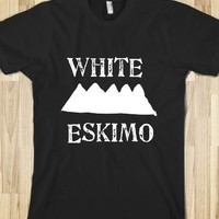 White Eskimo-Unisex Black T-Shirt