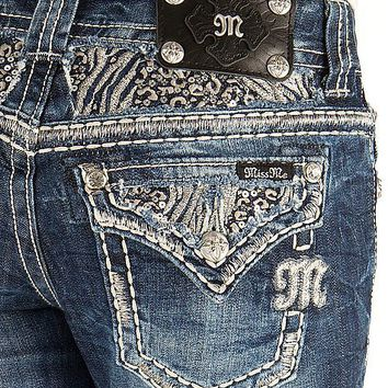 Miss Me Zebra Boot Stretch Jean - Women's Jeans | Buckle