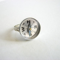 compass ring  the navigator by friendlygesture on Etsy