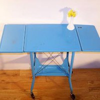 Baby Blue Typewriter Desk by DJandPvintage on Etsy