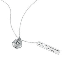 FORTUNE COOKIE LARIAT NECKLACES | Lucky Silver Lariat Necklace | UncommonGoods