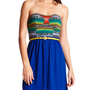 Charlotte Russe - Belted Aztec-Bust Dress