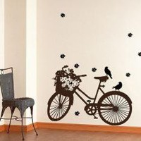 Vinyl Wall Art Decal BicycleWall Art Home Decor Murals by WowWall