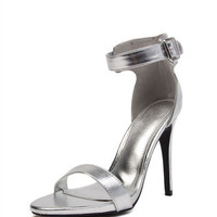 Metallic Open Toe Stilettos | 2020AVE
