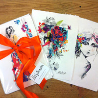 Set of  3 A4 prints // FASHION ILLUSTRATION