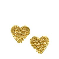 ASOS Squiggle Heart Stud Earrings at asos.com