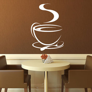 Coffee Cup Tea Cup Kitchen Vinyl Wall From Sticker Hog Wall