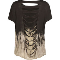 FULL TILT Die Dye Slash Back Girls Crop Top