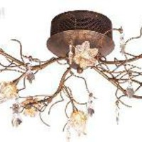 ET2 E2204820 - Flora Contemporary Flush Mount Ceiling Light E22048-20