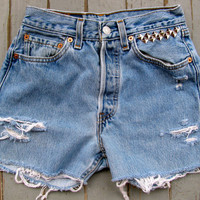 Vintage Levis 501 Refashioned high waisted shorts -ON SALE-