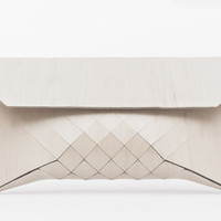 Great White // XL wood clutch