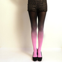 "Ombre Tights. Pink and black - as seen on ""Today Show"""