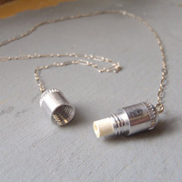 $26.00 the Note & Capsule necklace by foxtailboutique
